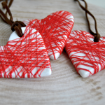 Red Thread Heart Pendant