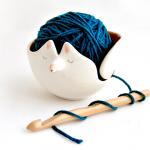 Orange Fox Yarn Bowl