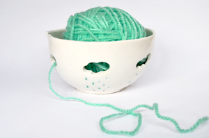 Blue Clouds Yarn Bowl