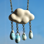 Blue Rainy Cloud Pendant