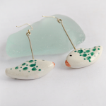 Green Fishes Earrings