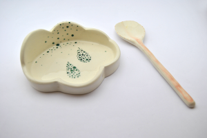Green Drops Cloud Spoon Rest