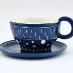 Coffe or Tea Cup In Blue Electric