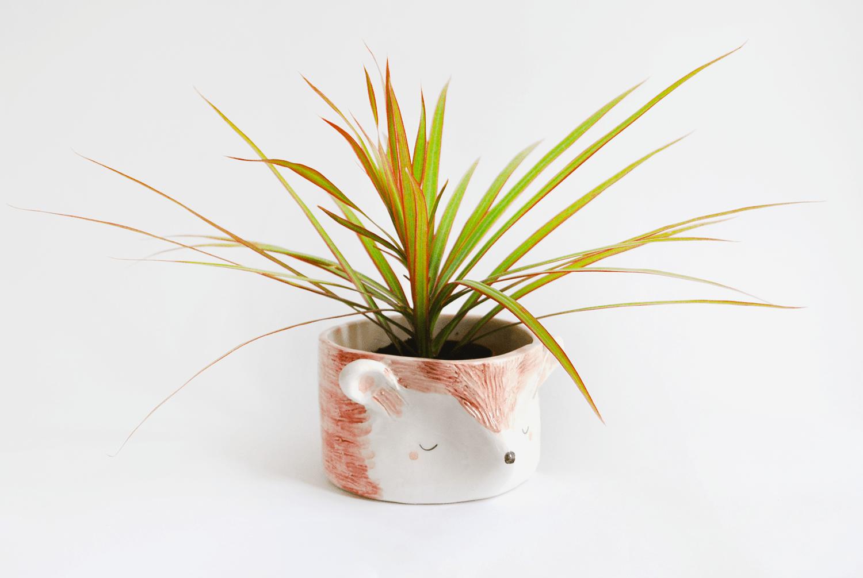 Ceramic Hedgehog Planter