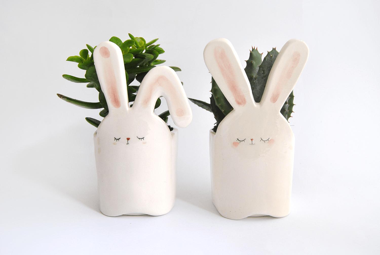 White Rabbit Planters