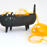 Halloween Black Cat Planter