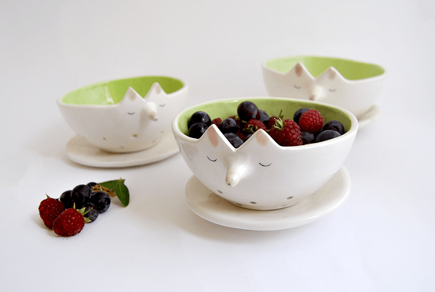 Fox Berries Bowl with Dish