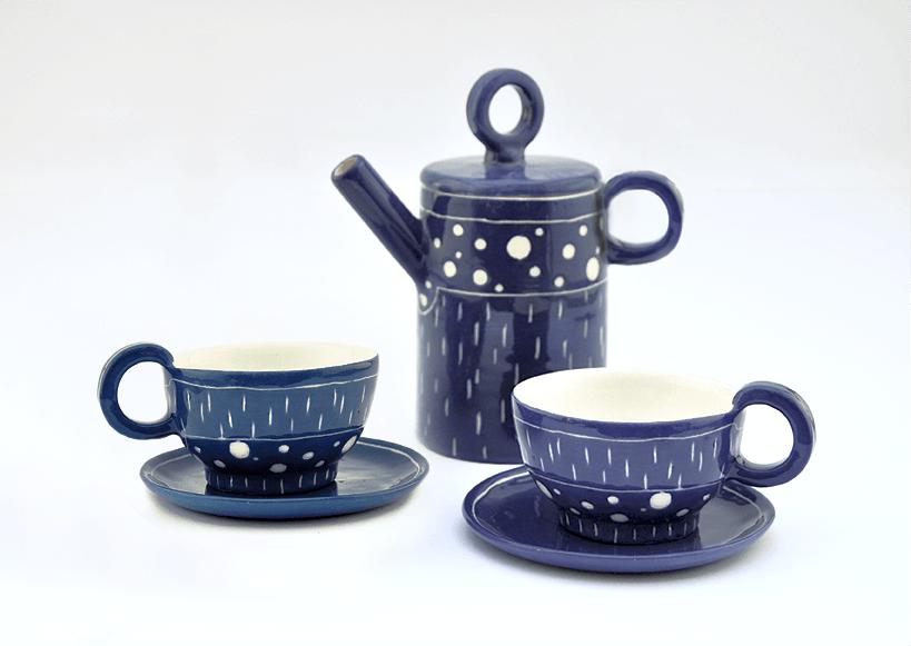 Electric Blue Coffe or Tea Set
