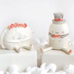 Croqueta and Empanadilla of Ana Oncina Wedding Figures