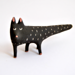 Halloween Black Cat Miniature