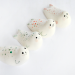 Seal Miniatures with Multicolor Polka Dots