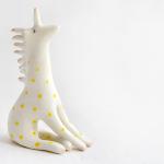 Unicorn Figure with Yellow Polka Dots