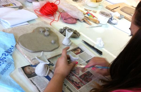 alumna trabajando el segundo día del taller
