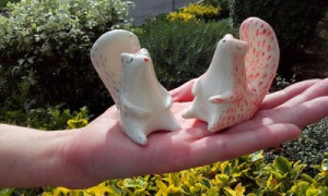 Miniatura ardilla de cerámica