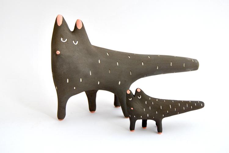 Miniatura Gato Negro Ceramica