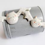 Ceramic White Vampire Magnets