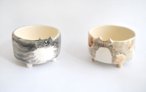 Cuencos Gato de Ceramica Personalizados