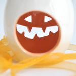 Ceramic Pumpkin Candleholder. Halloween.